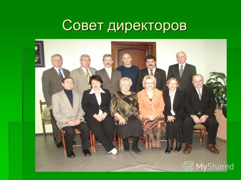 Совет директоров Совет директоров