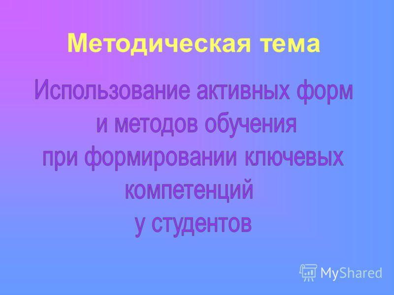 Методическая тема