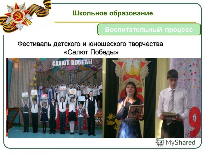 Школьное образование Воспитательный процесс Фестиваль детского и юношеского творчества «Салют Победы»