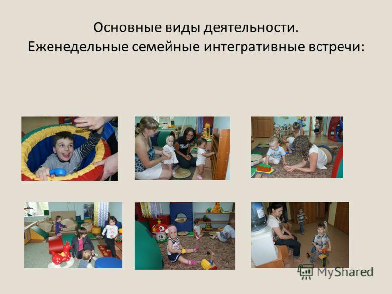 Основные виды деятельности. Еженедельные семейные интегративные встречи: