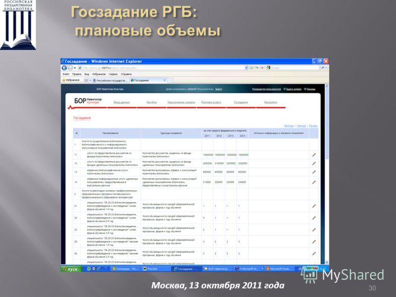 30 Москва, 13 октября 2011 года