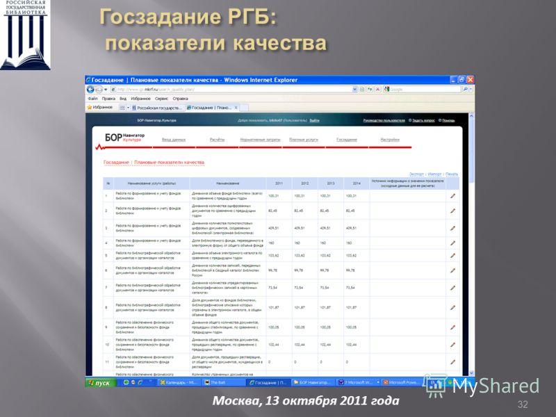 32 Москва, 13 октября 2011 года