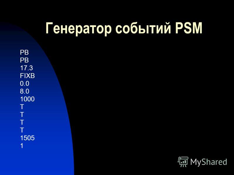 Генератор событий PSM PB 17.3 FIXB 0.0 8.0 1000 T 1505 1