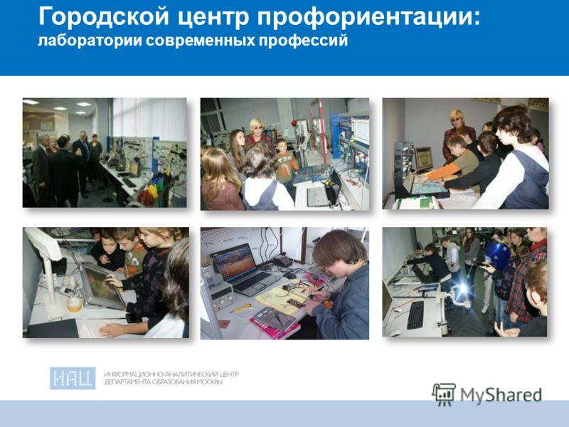 18 Городской центр профориентации: лаборатории современных профессий