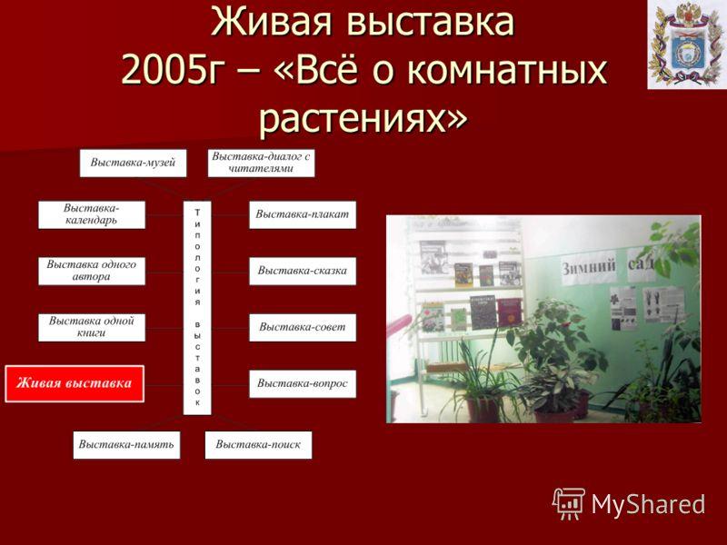 Живая выставка 2005г – «Всё о комнатных растениях»