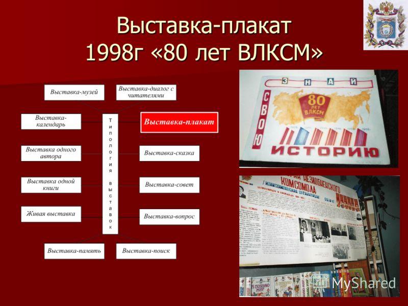 Выставка-плакат 1998г «80 лет ВЛКСМ»