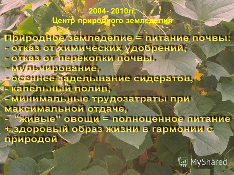 2004- 2010гг. Центр природного земледелия