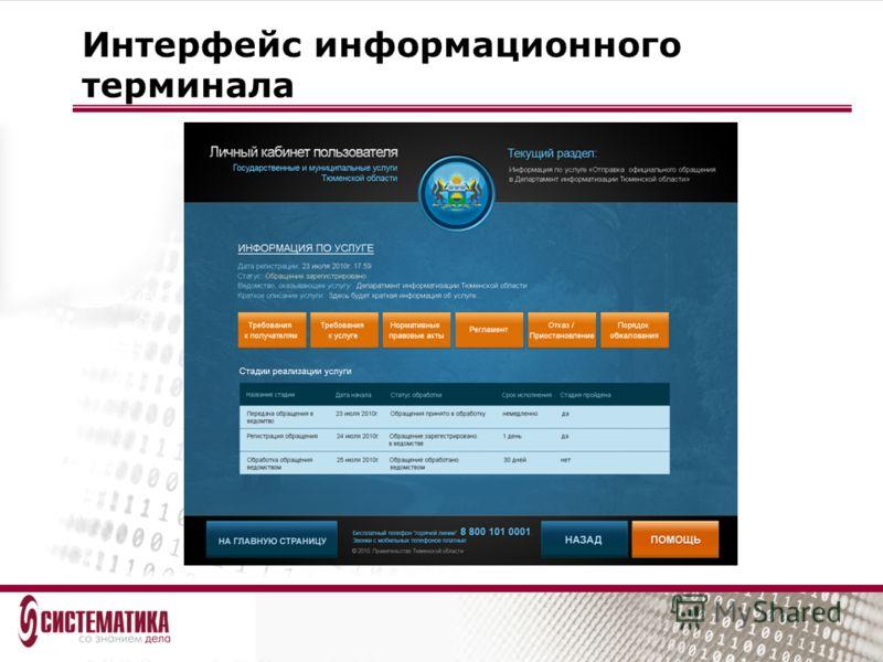 Интерфейс информационного терминала