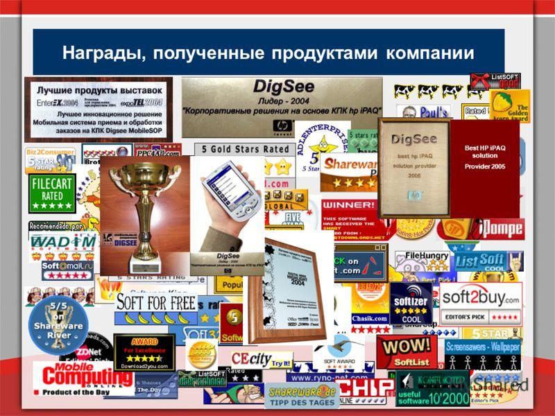 www.digsee.com47 Награды, полученные продуктами компании Best HP iPAQ solution Provider 2005