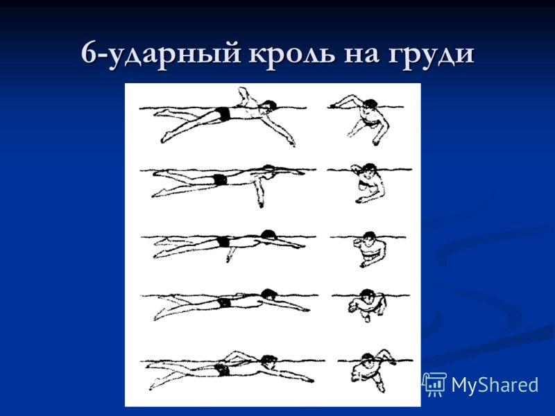 6-ударный кроль на груди