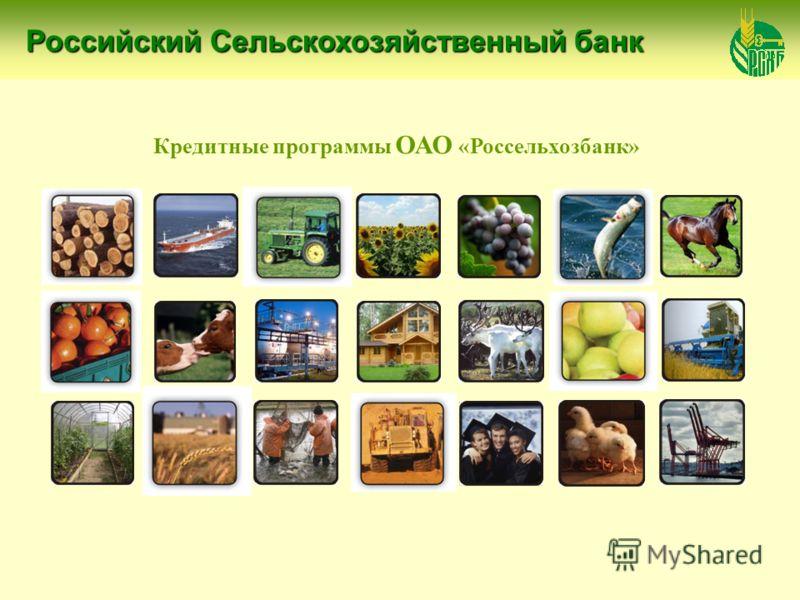 Российский Сельскохозяйственный банк Российский Сельскохозяйственный банк Российский Сельскохозяйственный банк Кредитные программы ОАО «Россельхозбанк»