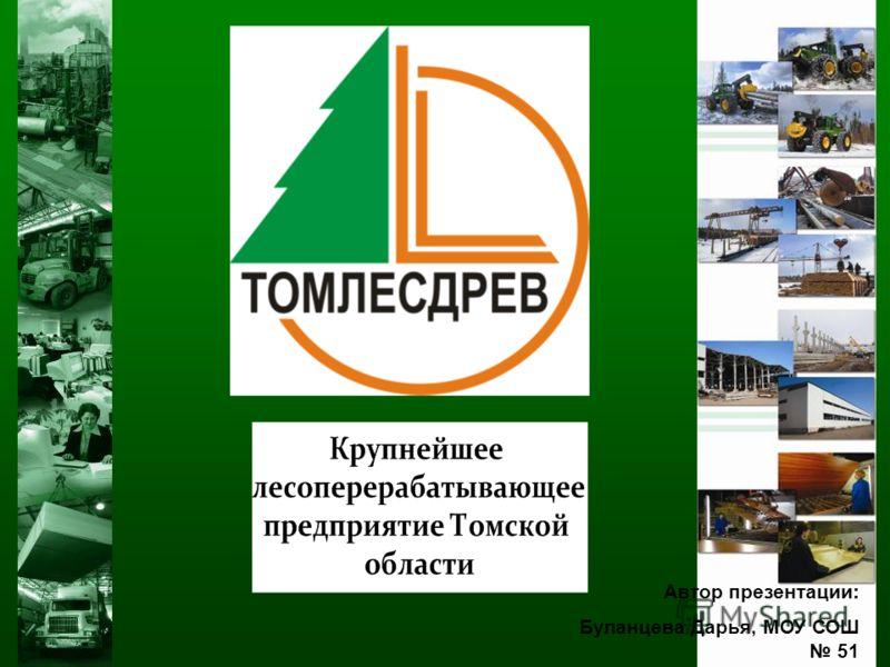 Автор презентации: Буланцева Дарья, МОУ СОШ 51