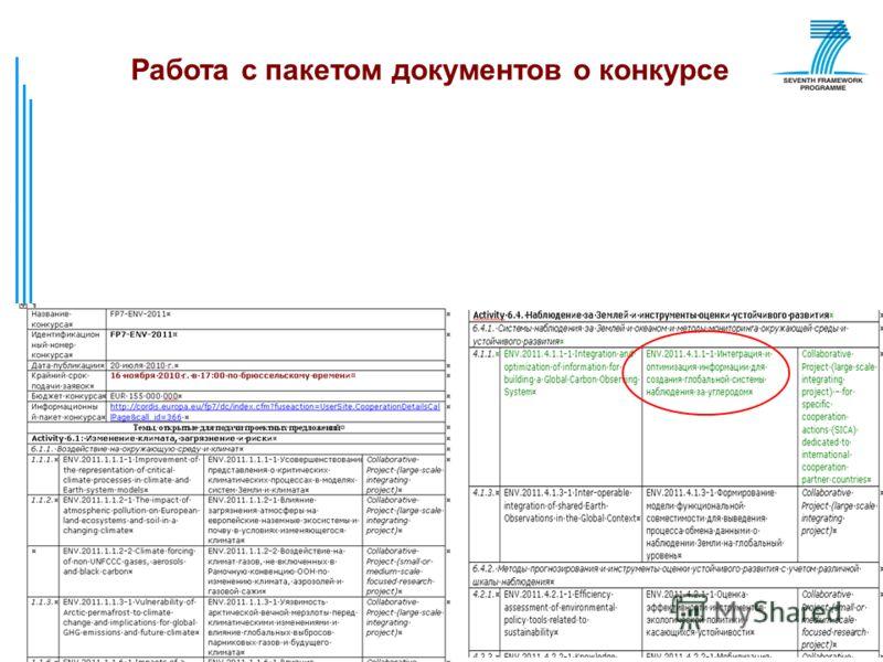 © РИЦ ВГУ33 Работа с пакетом документов о конкурсе