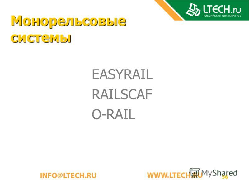 56 Монорельсовые системы EASYRAIL RAILSCAF O-RAIL