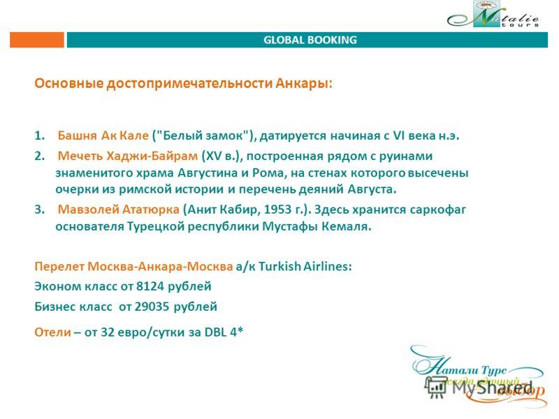 Основные достопримечательности Анкары: 1. Башня Ак Кале (
