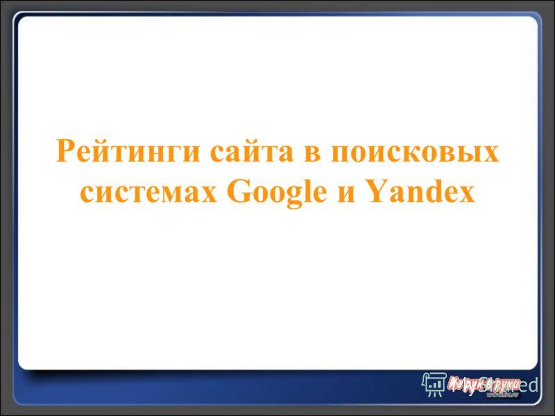Рейтинги сайта в поисковых системах Google и Yandex