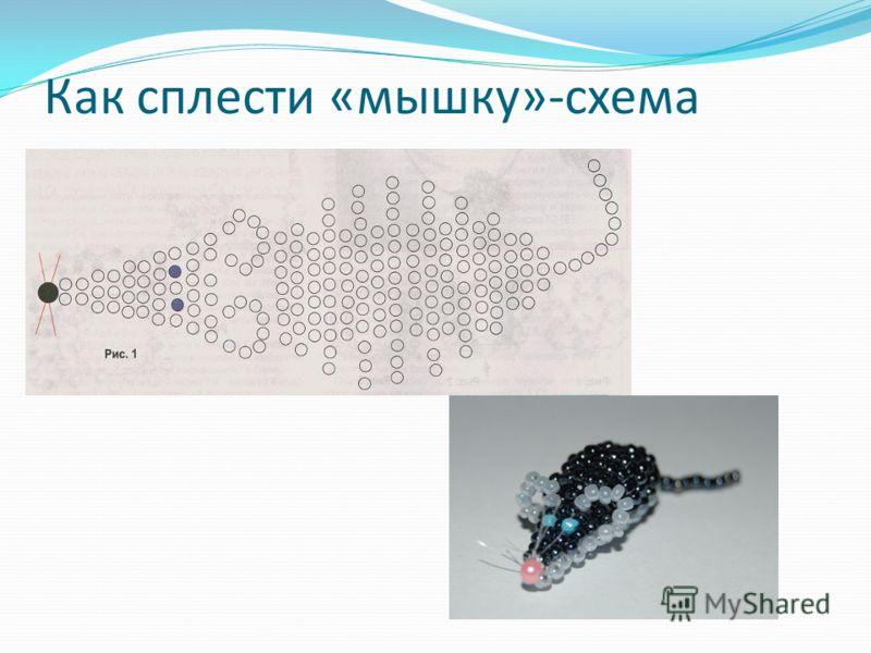 Как сплести «мышку»-схема
