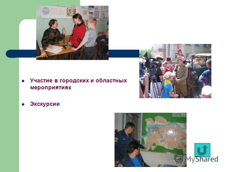 Участие в городских и областных мероприятиях Экскурсии