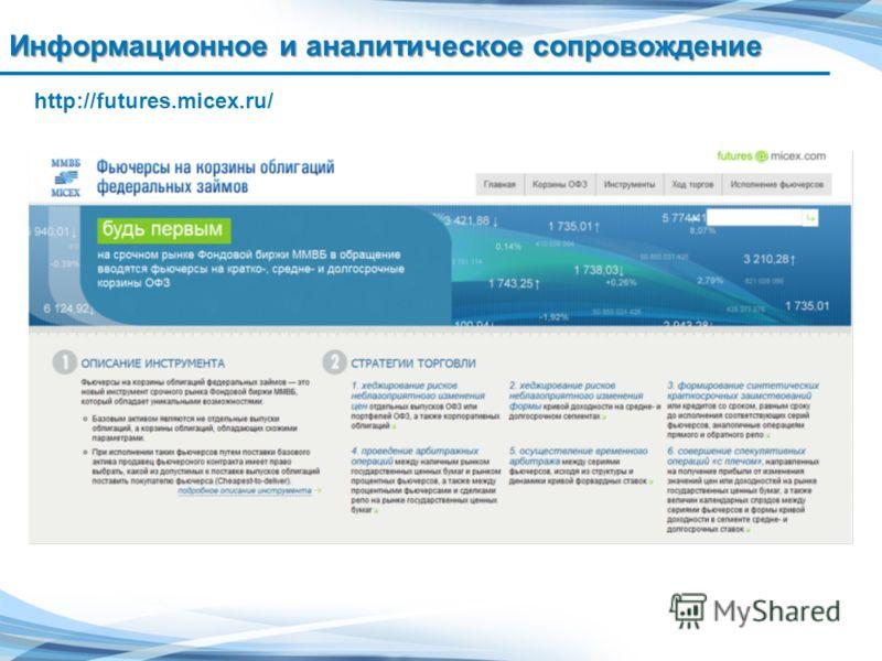 16 Информационное и аналитическое сопровождение http://futures.micex.ru/