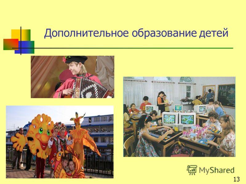 Дополнительное образование детей 13