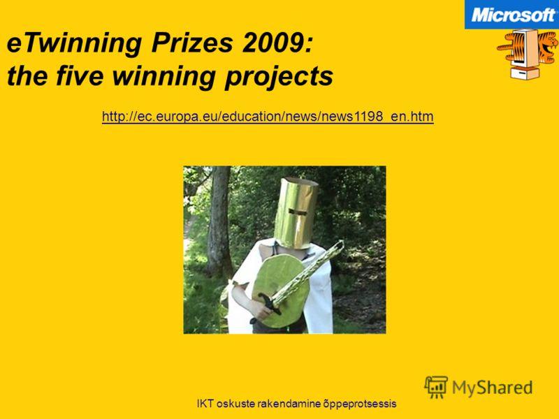 eTwinning Prizes 2009: the five winning projects http://ec.europa.eu/education/news/news1198_en.htm