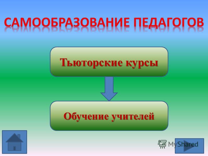 Тьюторские курсы Обучение учителей