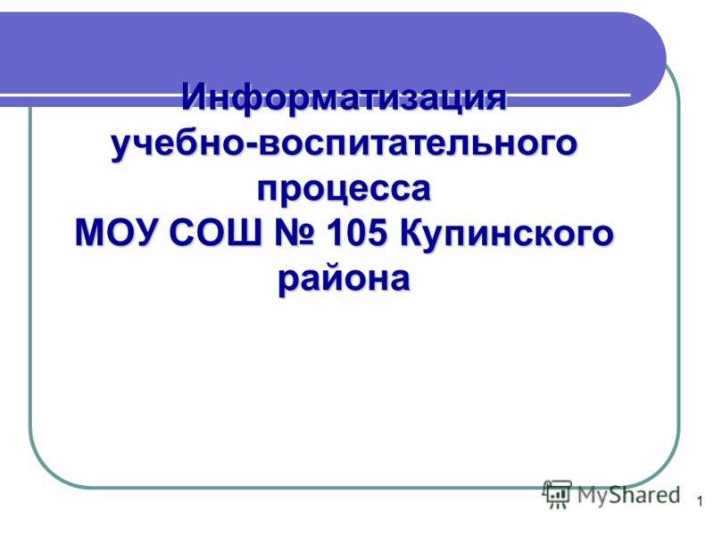 1 Информатизация учебно-воспитательного процесса МОУ СОШ 105 Купинского района