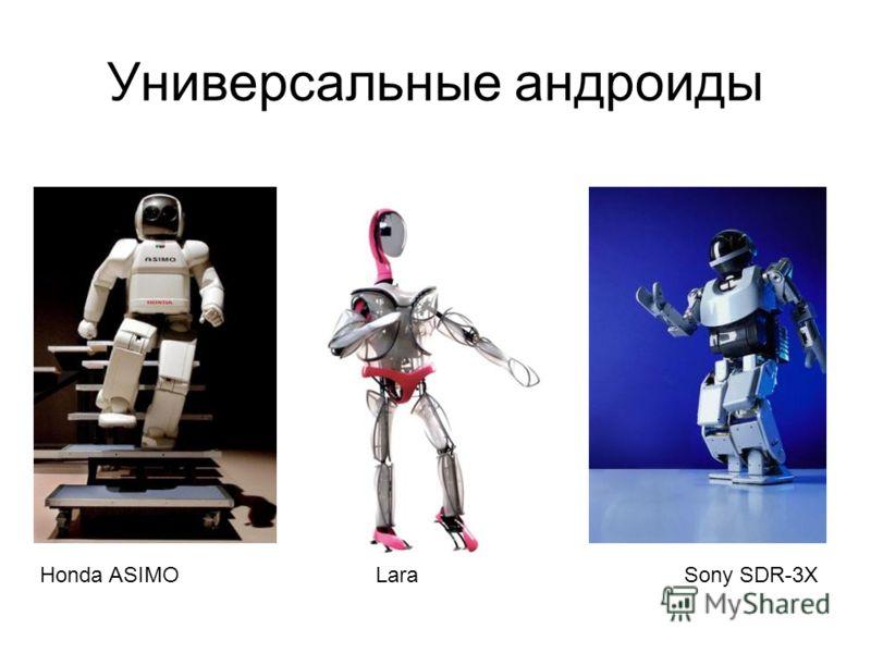 Универсальные андроиды Sony SDR-3XHonda ASIMOLara