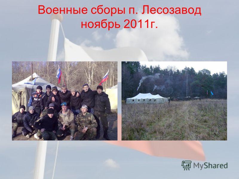 Военные сборы п. Лесозавод ноябрь 2011г.