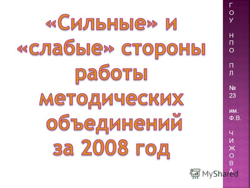 Г О У Н П О П Л 23 им. Ф.В. Ч И Ж О В А