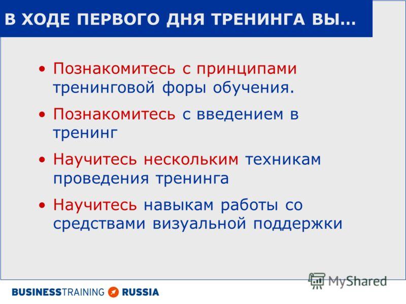 СБЕРБАНК 2009 Навыки эффективного проведения тренинга по продажам