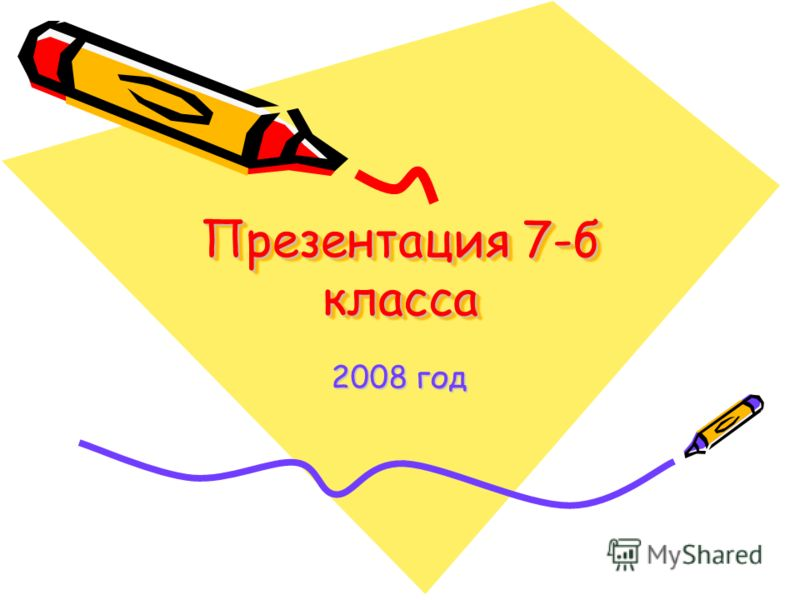 Презентация 7-б класса 2008 год