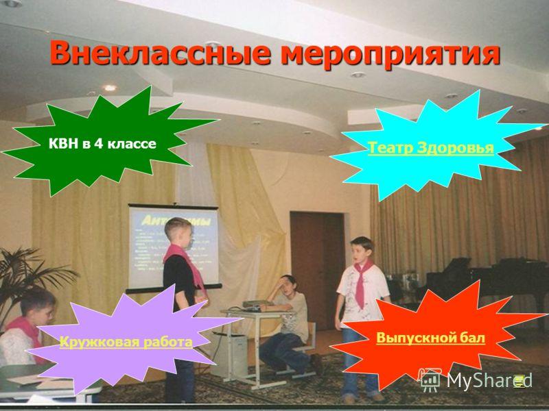 Внеклассные мероприятия КВН в 4 классе Театр Здоровья Выпускной бал Кружковая работа