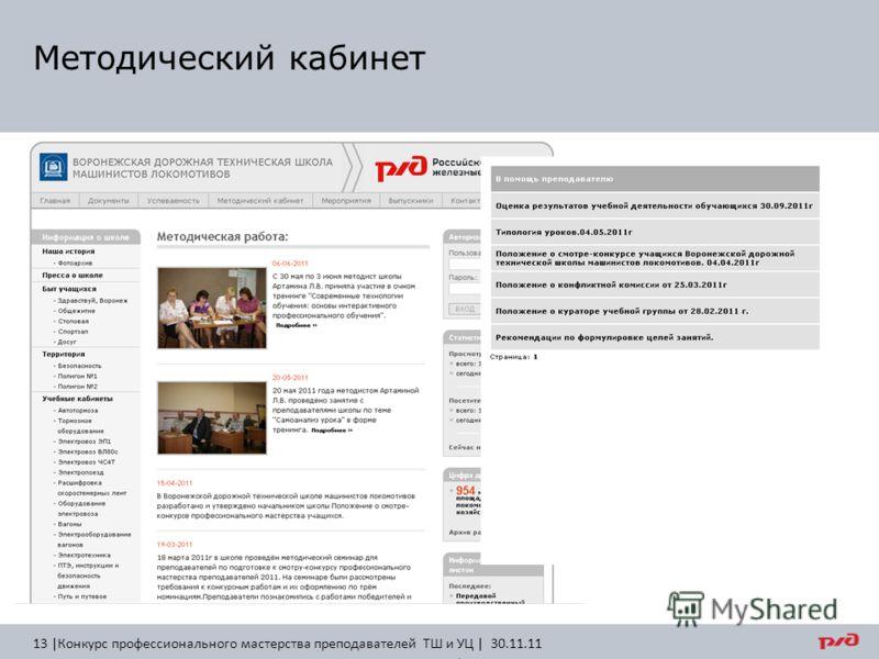 Методический кабинет 13 |Конкурс профессионального мастерства преподавателей ТШ и УЦ | 30.11.11