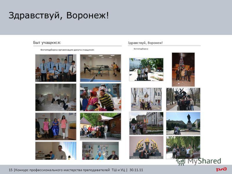 Здравствуй, Воронеж! 15 |Конкурс профессионального мастерства преподавателей ТШ и УЦ | 30.11.11