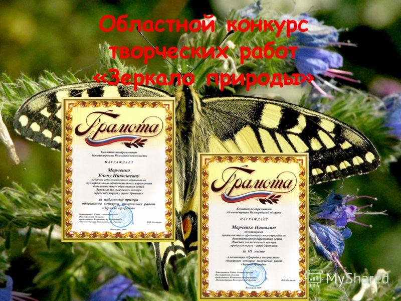 Областной конкурс творческих работ «Зеркало природы»