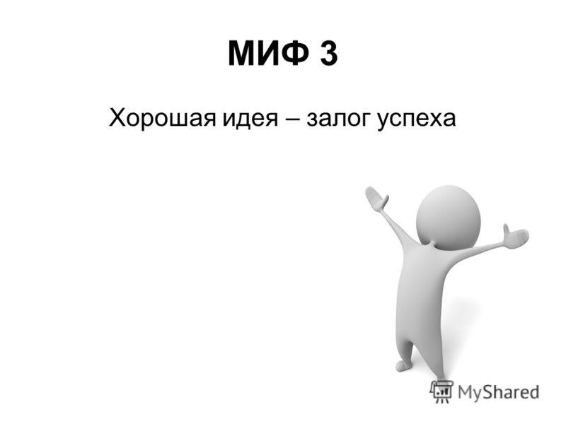 МИФ 3 Хорошая идея – залог успеха