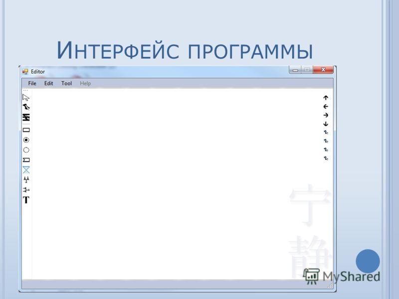 И НТЕРФЕЙС ПРОГРАММЫ