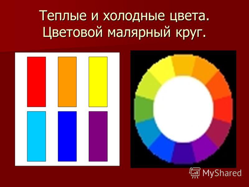 Теплые и холодные цвета. Цветовой малярный круг.