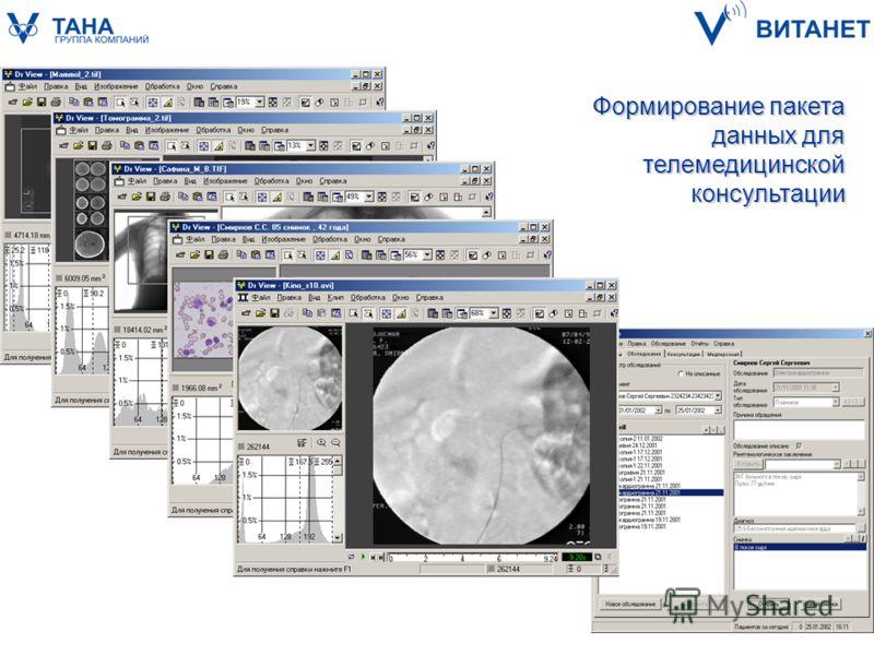 Формирование пакета данных для телемедицинской консультации