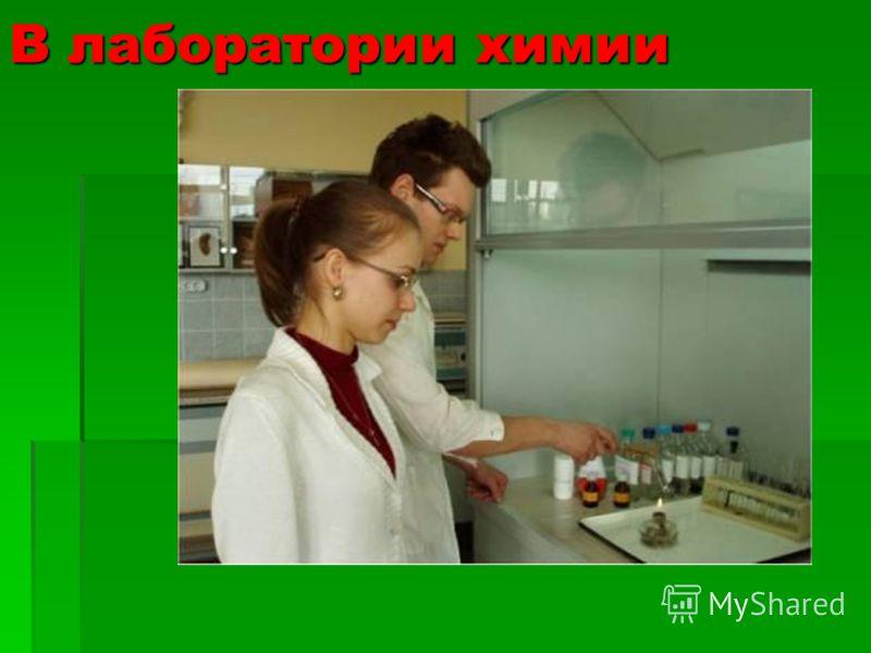 В лаборатории химии