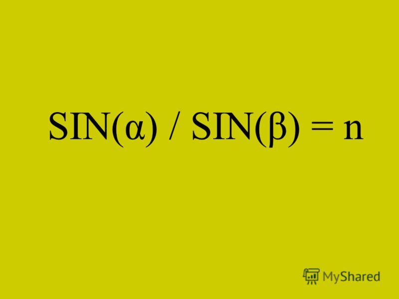 SIN(α) / SIN(β) = n
