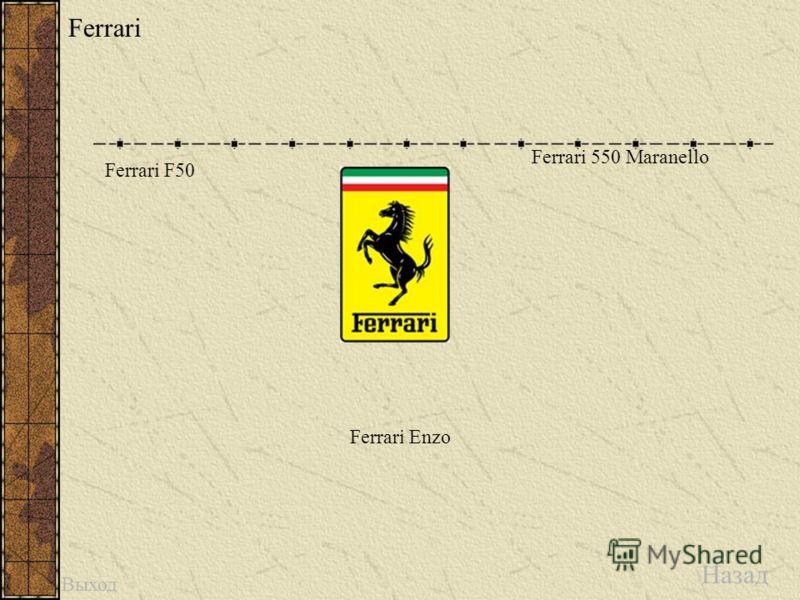 Ferrari Назад Выход Ferrari F50 Ferrari 550 Maranello Ferrari Enzo