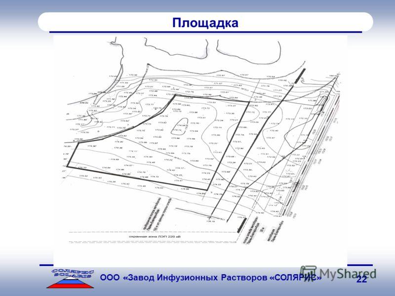 SOLARIS ООО « Завод Инфузионных Растворов « СОЛЯРИС » 22 Площадка