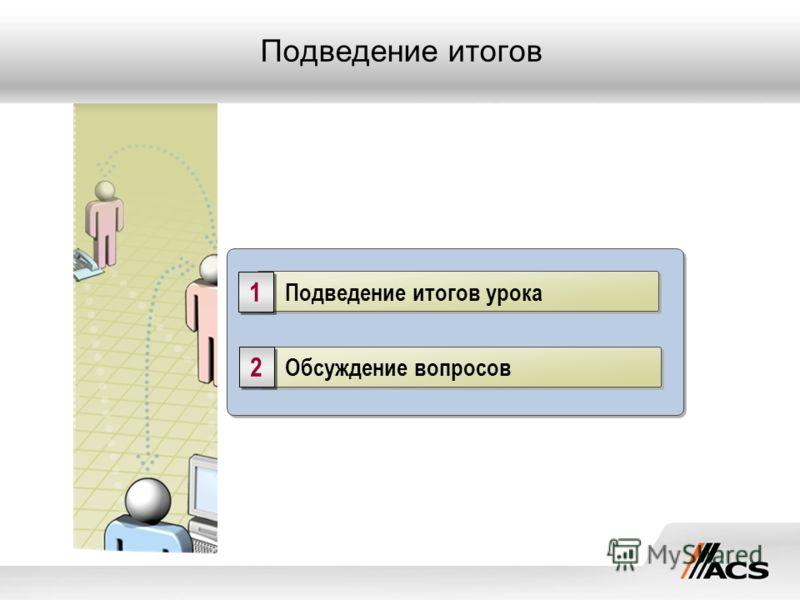 Обсуждение вопросов 2 2 Подведение итогов урока 1 1 Подведение итогов