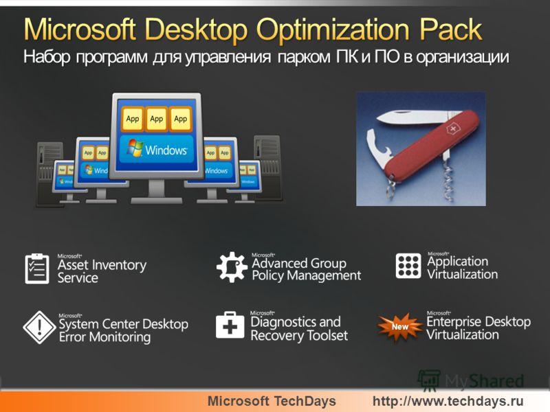 Microsoft TechDayshttp://www.techdays.ru NewNew
