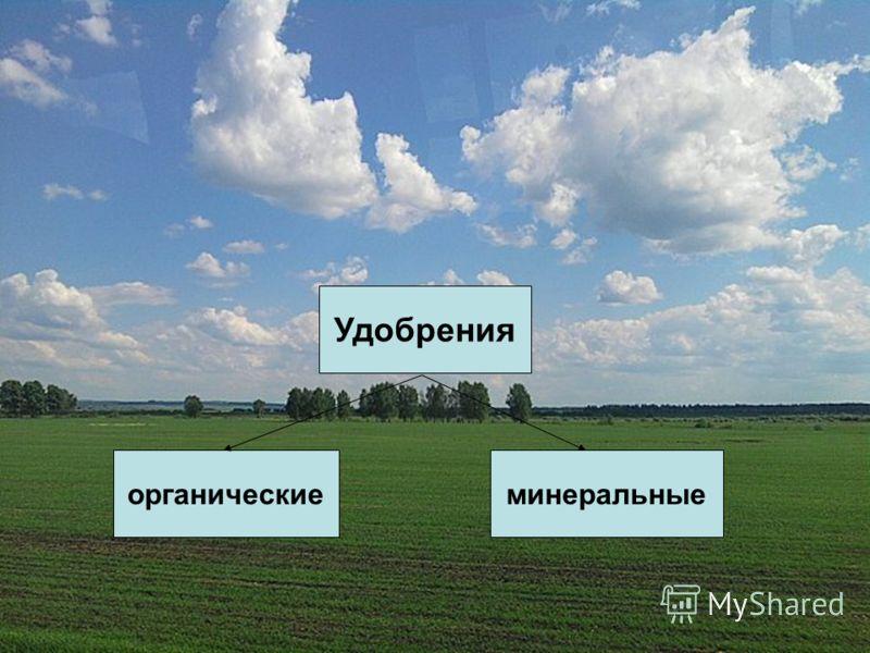 Удобрения органическиеминеральные