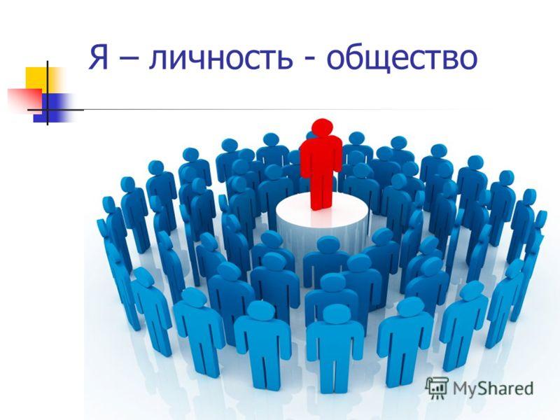 Я – личность - общество