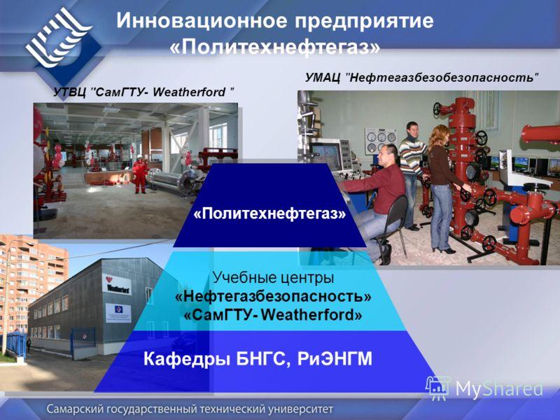 Инновационное предприятие «Политехнефтегаз» УМАЦ ''Нефтегазбезобезопасность Учебные центры «Нефтегазбезопасность» «СамГТУ- Weatherford» Кафедры БНГС, РиЭНГМ «Политехнефтегаз» УТВЦ ''СамГТУ- Weatherford