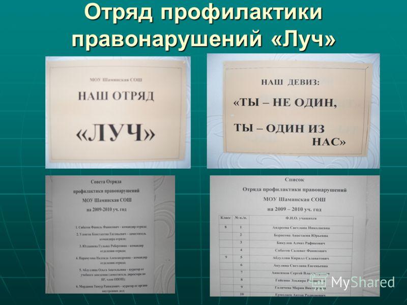 Отряд профилактики правонарушений «Луч»